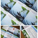 Quadratischer Flyer mit 6 Seiten für Sabine Fries | Training - Beratung - Coaching