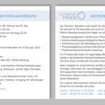 Passende Flyer-Einlage mit wechselndem Angebot Sabine Fries | Training - Beratung - Coaching