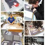 Produktion der neuen Verpackungen in Hamburg.
