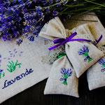 Мешочек с вышивкой. Внутри цветы лаванды. Стоимоть 250руб