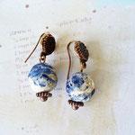 Серьги с натуральным лазуритом. Стоимость 530 руб