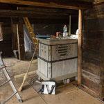 der Ofen im Umbau