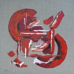 Rot Weiss Gruen, 60 x 60 cm