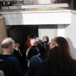 こちらがネクロポリス入口。駐車場の一角ですがその前にも厳重にゲートがあり警備員さんもいます。