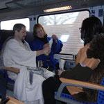 ... und im Zug