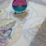 オーラライトと彩色仏画