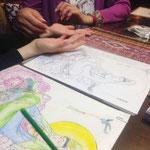 仏画に色を塗る彩色写仏体験会