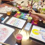 仏画体験WS「彩色仏画を描く」