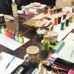 カラーセラピスト勉強会色の意味を深める「ピンク&クリア」
