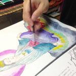 震災チャリティ仏画体験