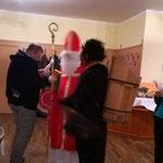 Krampus und Nikolaus zu Besuch