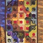 Ginkgo Fragments 2005  ca. 138 x 182 cm  Verkauft               Als Anleitung erhältlich