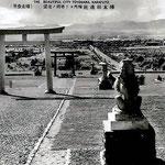 храм Сёконся вид на город каменные собаки-охранители -КОМА ИНУ