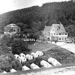 """1977 Палаточный городок, гостиница, административный корпус на турбазе """"Горный воздух"""""""