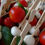 Mozzarella-Tomatenspiesschen