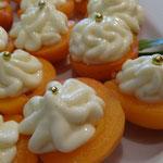 Aprikosen mit Mascarponecrème