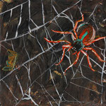 Spider Queen Takes a Moment, acrylic on canvas, 2014