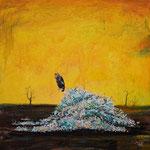 "Boneyard, 24"" x 24"", acrylic on canvas, 2013"