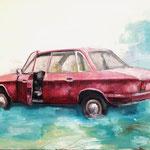 Car  // 24x32cm oil on wood