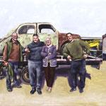 La Famille 114x146cm    - oil on canvas  - 2019