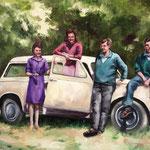 Pique-Nique -  80x100cm  -  oil on canvas  - 2018