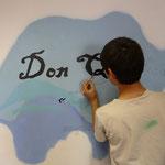 Atelier graffiti au CFA de l'oisellerie à Angoulême
