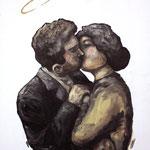 Notre amour pour toujours // 35x21cm // huile sur toile