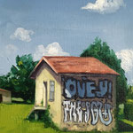 Graffiti - 13x18cm - oil on paper  - 2020