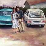 couple -  60x60cm  -  oil on canvas  - 2018