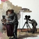Cinéma  // huile sur toile //  41x33cm