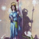 angel  13x18cm - oil on paper  - 2020