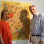 Daniel Kho und Galerist Dirk Palder (rechts)
