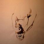 """""""Chloé hockend"""" in der Ausstellung """"Nackte Tatsachen"""" von Roswitha Schardt"""