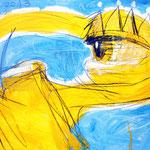 "Atlantis-tOG Nr. 007 - Alina Atlantis Werk ""Ich sehe mich"" - Zyklus ""GIPFELSTÜRMER"" - 80 x 120 - (c) tOG-Düsseldorf"