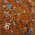 Daniel Kho - tOG Nr.06 - New Life - 90 x 45 cm - 2000 - Mixed Media auf Canvas