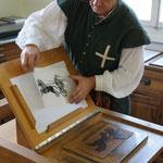 Gutenbergpresse im Einsatz