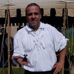 2014 Highland-Games auf ein Schwätzchen mit Chrigi Kessler, dem Vater der Highland-Games