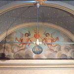 Peinture sur bois découverte lors de la dernière restauration