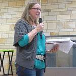 Blandine Bizais. Elle est catéchiste pour les enfants du public en CE et porte-parole d'un groupe