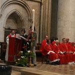 Le psaume est chanté par 4 choristes de talent