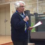 Yvette Poisson pour le secours catholique