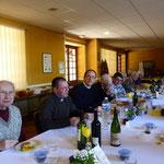 De gauche à droite : PP. Jean du Mesnil, Stéphane, Pierre-Yves, Claude Boitard, Marc Mangot, Olivier Théon, Claude Lemonnier et Henri Lesellier ?