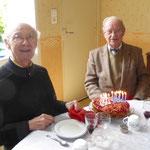 P. Jean du Mesnil, 86 ans (à gauche) et P. Claude, 88 ans