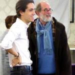 L'animateur, Matthieu, avec Jean-Marie Poussin