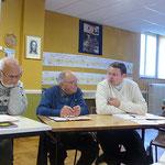 Les PP. René Louvel, Charles Marchand et Jean-Marie Simar