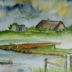 """""""Langeness - Warf Treuberg"""", Aquarell, 30 x 40, 2006"""