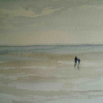"""""""Langeness - Wattläufer"""", Aquarell, 30 x 40, 2006"""