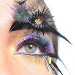 Inzending Balkan Lash Pro Contest 2018 thema 'The show must go on'.  Lashes, MUAH, photography, styling Jose Thijssen. Nails done by Wicked Nails.