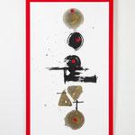 作品「本田蒼風」 赤と白とを大胆に使用して、作品を引き立てさせる 大きな作品!! 1点飾り