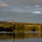 Lake Nussbaumen (Thurgau, Switzerland) - The idyllic Lake in the warm evening light before sunset     © Stephan Stamm